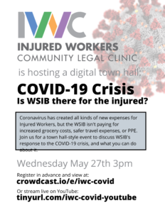 IWC digital town hall on COVID-19 Is WSIB there for the injured?