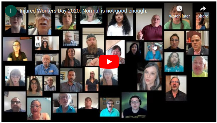 Video from 2020 Injured Workers Day online event