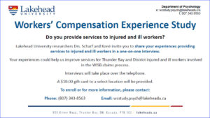 Lakehead recruitment poster for service providers