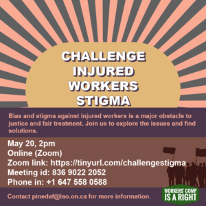 Poster for Webinar on challenging stigma May 20 at 2 p.m.