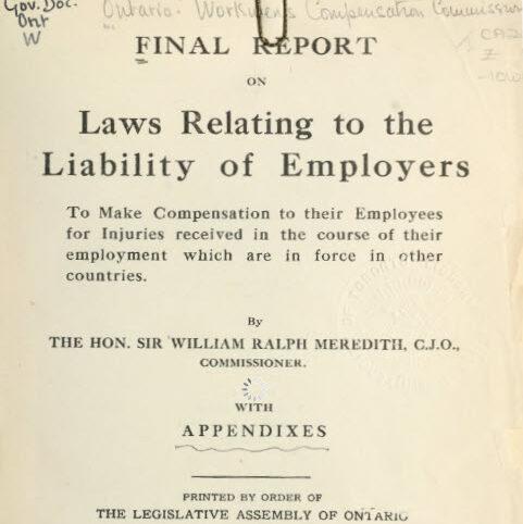 1913 Meredith report