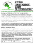 Fact sheet - pre-existing conditions