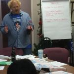 Willy Noiles at outreach planning meeting at IWC